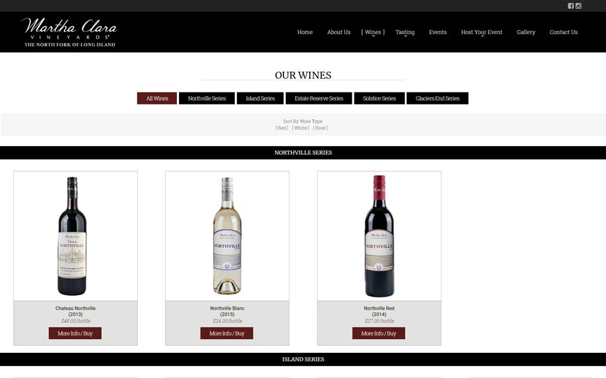 Martha Clara Vineyards Product Categories