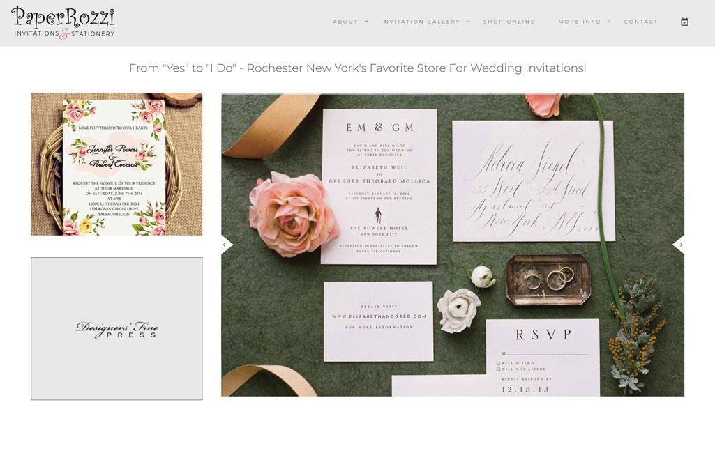Truevine Web Design Portfolio - PaperRozzi Invitations